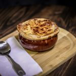 French onion soup at restaurant in Jamestown NY